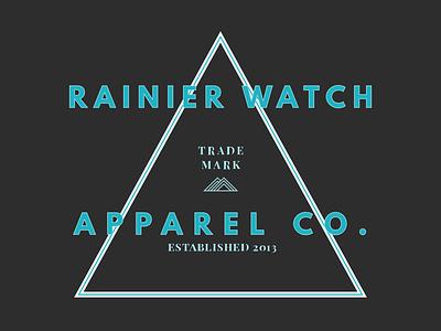 Rainier Watch Apparel Co playfair display shirt apparel league spartan t-shirt tee shirt mount rainier mountain rainier watch design