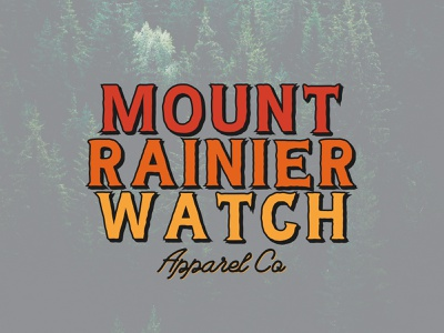 Trees and Brights feedbackplease vintage mtrainier pnw mountains apparel tee shirt tee logo design sketch rainier watch mountain mount rainier design