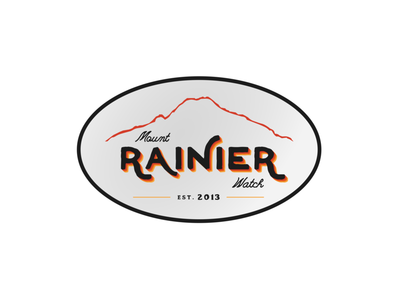 Retro Sticker logo badge logo apparel logo shirt vintage retro feedbackplease badge apparel sticker design mount rainier rainier watch