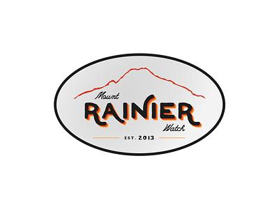Retro Sticker logo badge logo apparel logo shirt vintage retro feedbackplease badge apparel sticker design mount rainier rainier watch
