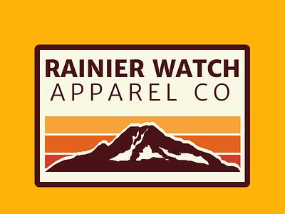 Rainier Watch Apparel Co Badge apparel rainier watch pacific northwest washington mountains badge design design merriweather sans pnw washington state rainier mtrainier mount rainier mountain badge