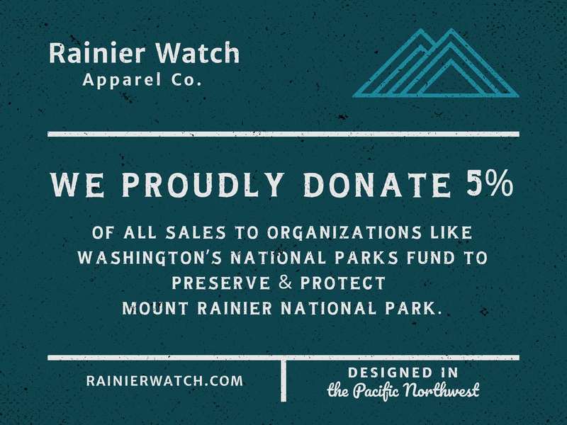 Display Poster - Donations national park pnw merriweather sans pacifica oldman display poster mountain rainier watch mount rainier design