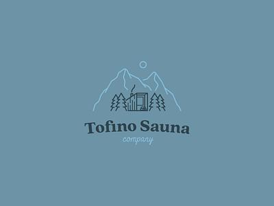 Tofino Sauna Co branding logo mountains illustration