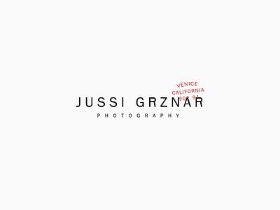 Jussi Grznar Branding photographer photographer branding photographer logo wordmark logo design typographic logo typography type branding design minimal logo branding