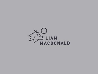 Liam MacDonald Logo illustration vector photographer logo photographer branding photography paradise moon wolf icon wordmark typographic logo typography type branding logo design logo