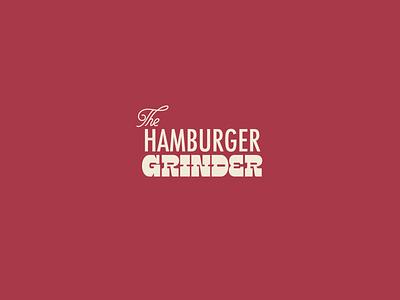 The Hamburger Grinder vintage logo logo design burger branding burgers vintage branding vintage weed branding logo character pattern wordmark vector illustration identity branding weed hamburger