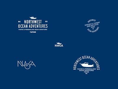 Northwest Ocean Adventures Logos & Marks logos paradise vintage badge vintage logo vintage badge design badges handdrawn type brand identity branding logodesign logo bc tofino northwest ocean pnw