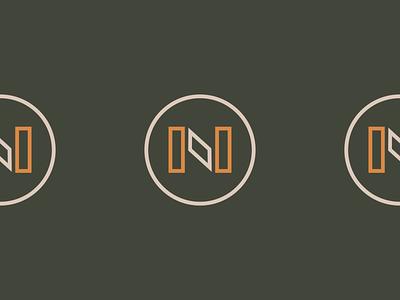 Notch Supply Logo brand design branding design badge logo mountains camping brand outdoors pnw logo design branding compass camping camp badge vector branding logo design logo icon