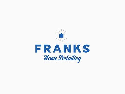 Franks Home Detailing Logo brand identity blue type design icon wordmark typography logo brand logo branding logo design trades homedetailing home franks