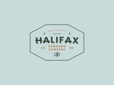 Halifax Cannabis Club Crest smallbusinessbranding eastcoastbrand cannabisbrand logolockups badges crestdesign badgedesign anchorillustration weedbranding cannabislogo