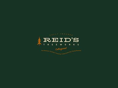 Reid's Tree Works vintage branding branding arborist outdoors vector illustration trees pnw badge design vintage badge vintage badge logo badge logo