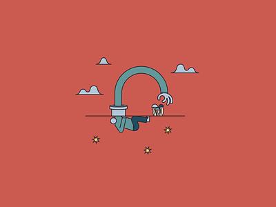 Origin Mushroom Postcards Illustration psychedelic brand illustration mushrooms vector branding minimal illustration