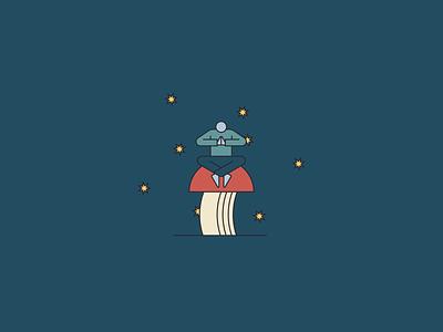 Origin Mushroom Postcards Illustration moon mushrooms stars vector branding earthy minimal illustration