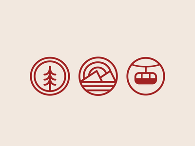 Whistler Icons design badge illustration minimal ski snowboard sun mountains whistler icons vector