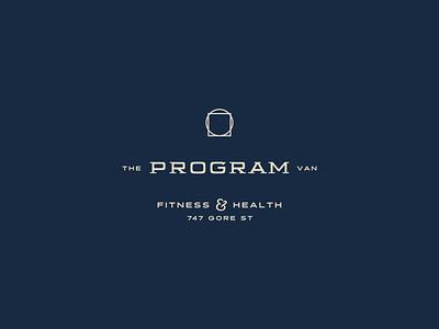 The Program Logo secret society secret davinci slabserif vintage logo badge logo type lockup badge vintage badge vintage pnw vancouver health fitness gym athletic typography identity branding logo