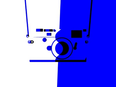 Strap minimal bold colour camera illustration negativespace