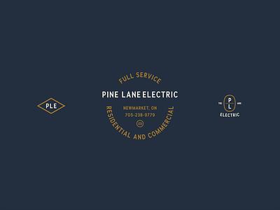 Pine Lane Electric Logo and Icons identity branding typographic logo typography vintage logos vintage logo identity branding icons logo