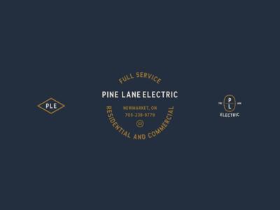 Pine Lane Electric Logo and Icons