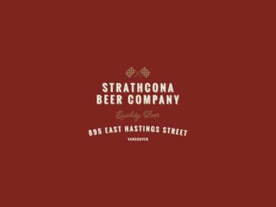 Strathcona Beer Company Type Lockup