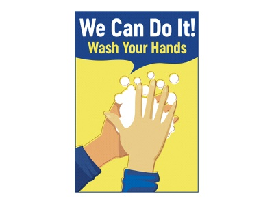 We Can Do It: Wash Your Hands retro t-shirt illustrator we can do it wash hands