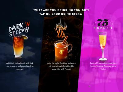 Interactive Screen App For Drink Voting ui ux web app design web app screen app interactive
