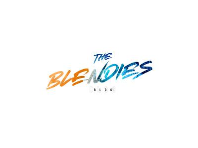 Blendies blog design concept fun colorful logo design concept blog logo