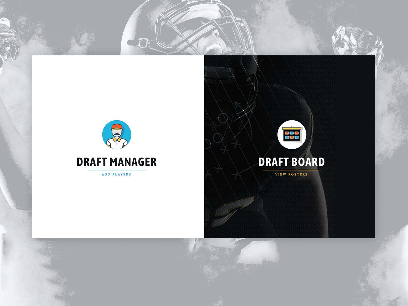 Fantasy Football Draft App: Landing Page web app design uidesign uiux reactjs web app fantasy football