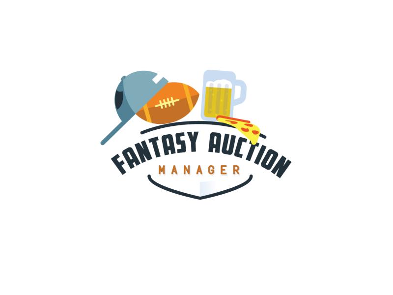 Fantasy Auction Web Icon clean vector fantasy football