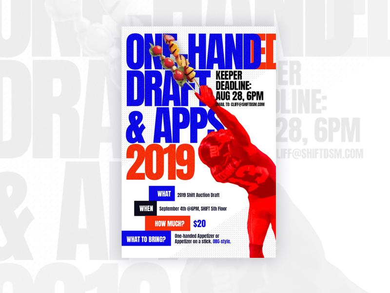 Draft Email Design typography design fantasy football