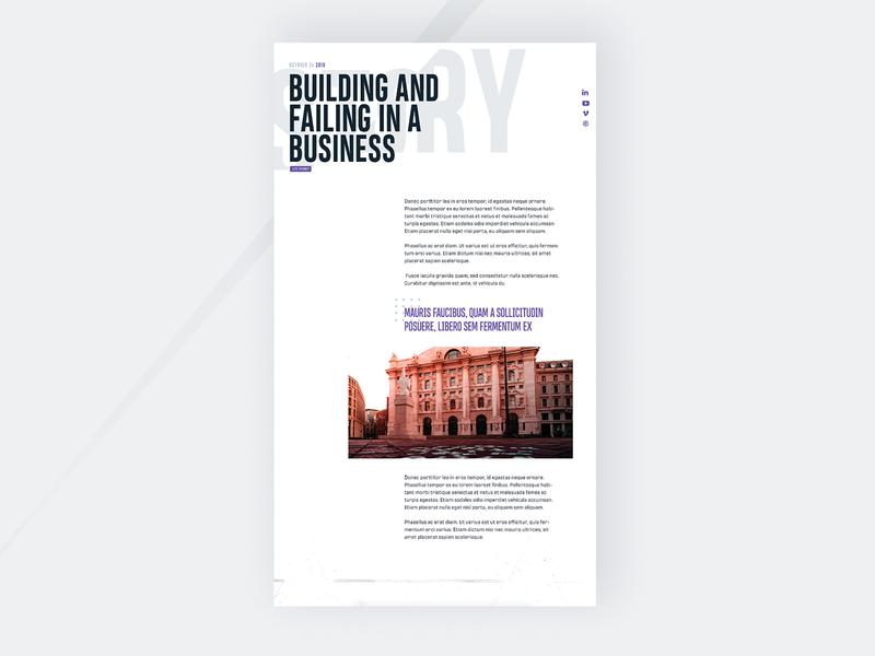 Blog single page design clean ui webdesign mockup typography website blog