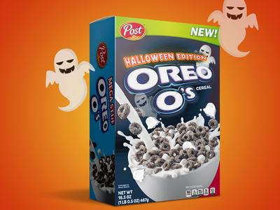 Halloween Oreos Cereal Concept