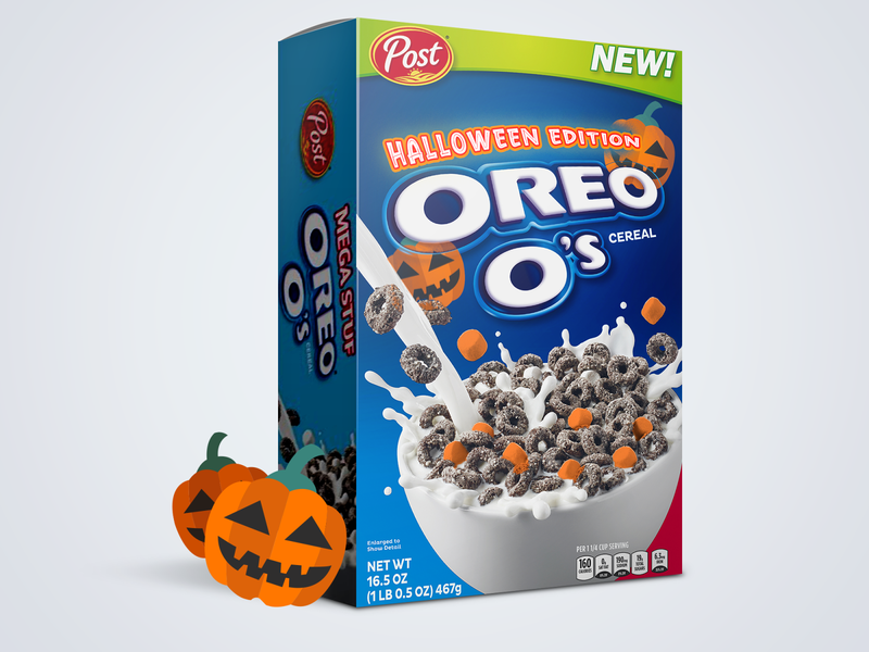 Halloween Cereal Pumpkin Edition fun graphic design concept cereal halloween