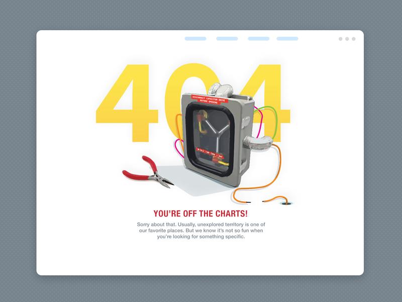 404 Page Design web design ui yellow simple fun 404