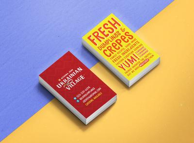 Business Card Design fun blue yellow typography business card design business card
