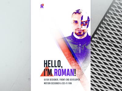 Mobile Page Concept personal web design mobile design mockup cyborg