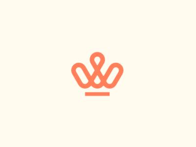 CROWN crown typography lettering vector logotype logo identity icon flat design branding