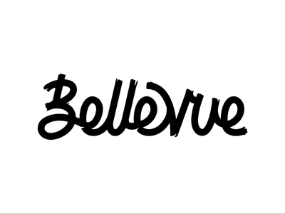 Bellevue hand vector lettering typography logotype identity design handlettering logo