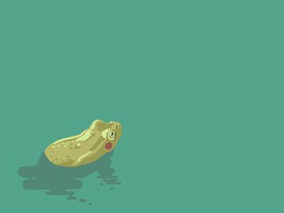 The frog green animal affinity illustraion frog