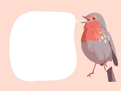 Talking bird pastel bird animal illustration