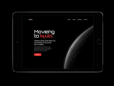 Moving to Mars mars ux interface app ui design ui