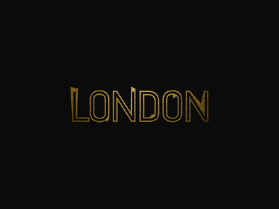 London Typography london typogaphy poster art design
