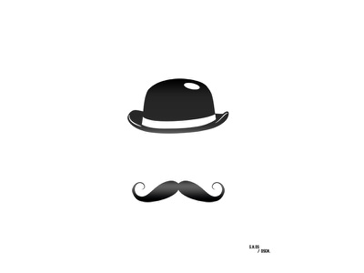 Mr.Hpst.Old School ui gradient bleck and white brending hipster logo