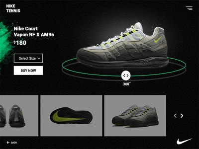 Tennis Shoes Shop ux interface shoes nike tennis ui designe ecommerce
