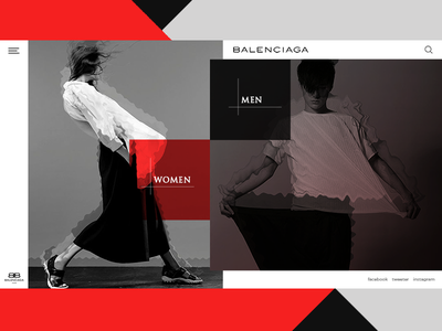 ecommerce home page hero heder layout men women designe colours ux ui ecommerce