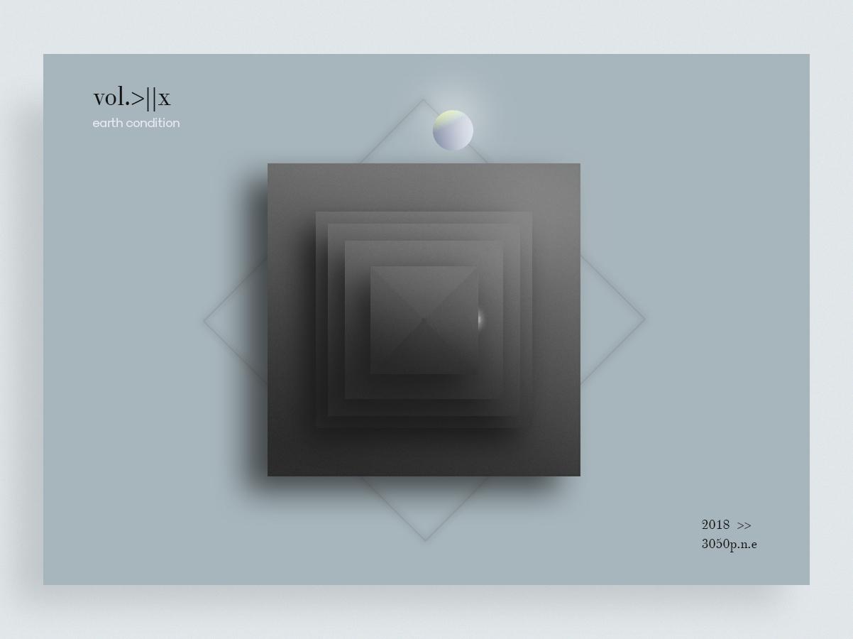 vol.>||x design interface bleck and white rectangles black  white ball 3-d shape elements shape designe