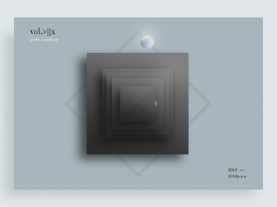 vol.>||x design interface bleck and white rectangles black  white ball 3-d shape elements shape designe