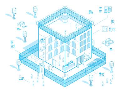 About prison seminar architecture illustration penitentiary jail prison