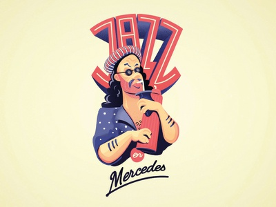Jazz music mate illustration uruguay jazz