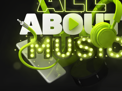 All About Music - Vagalume play icon headphone phone lyrics vagalume all about music 3d music