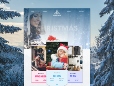 Christmas presents web site design